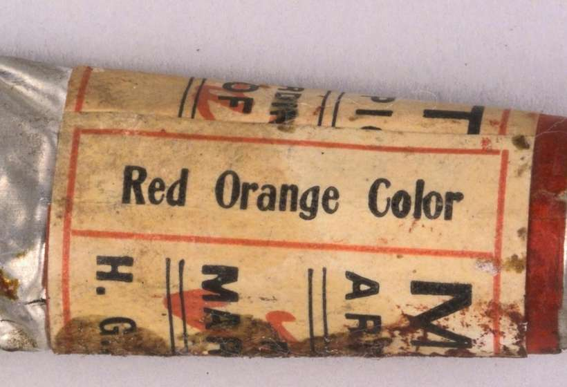Paint tube: Maratta Red Orange, Buffalo Bill Center of the West, Cody, Wyoming, Joseph Henry Sharp Collection, Gift of Mr. and Mrs. Forrest Fenn, P.22.531.